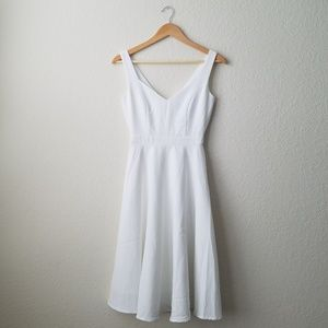Lulus white midi fit and flare dress